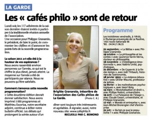 Var Matin : Les « cafés philo » sont de retour