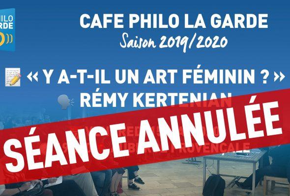 Crise sanitaire : la séance du 15 mai « Y-a-t'il un art féminin ? » annulée
